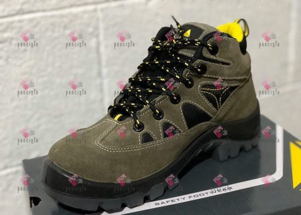 GREEN-BLACK DELTA PLUS AURIBEAU3 SAFETY SHOES