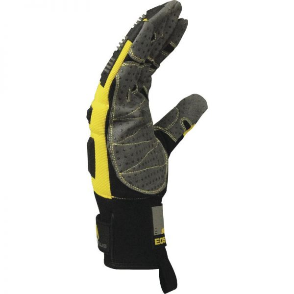 GLOVE WITH PU/POLYAMIDE PALM + DOTS - POLYESTER/PU BACK - BACK REINFORCEMENTS