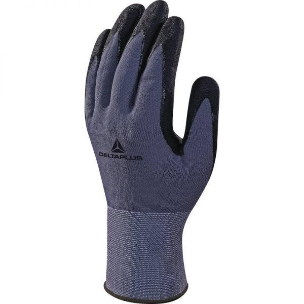 POLYAMIDE SPANDEX KNITTED GLOVE - NITRILE/PU PALM