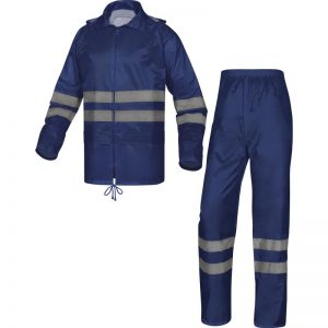 RAIN SUIT IN POLYESTER WITH PVC COATED