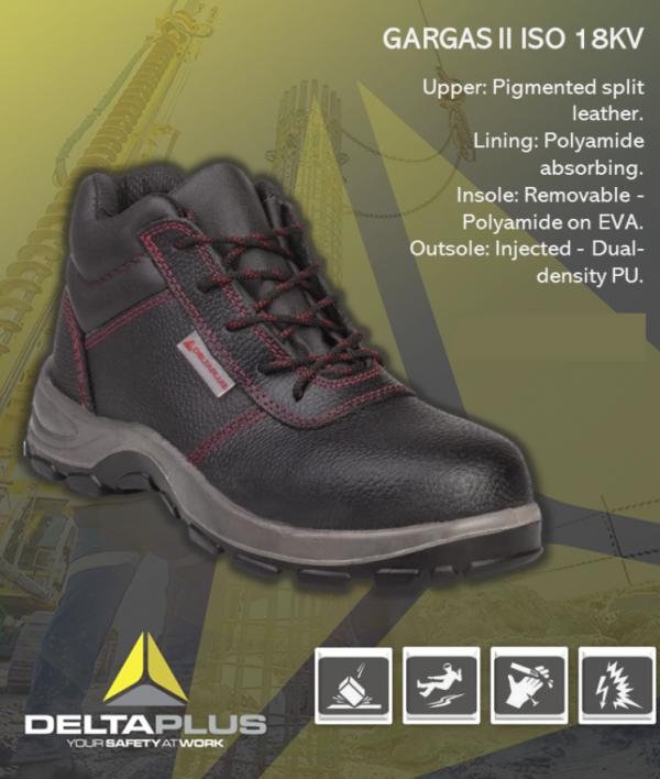 DELTA PLUS GARGAS II ISO 18KV SAFETY SHOES