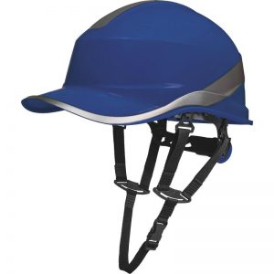 "ABS SAFETY HELMET ""BASEBALL CAP"" SHAPE + CHIN ATTACHMENT - ROTOR ADJUSTMENT"
