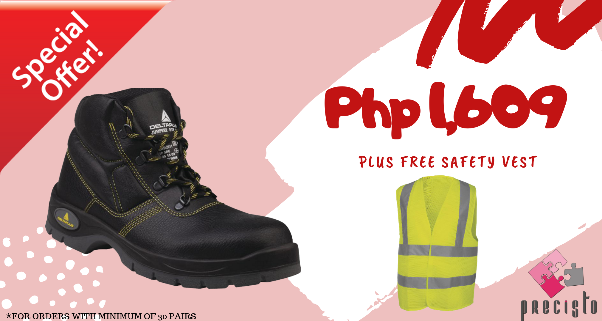 SAFETY SHOES WITH FREE VEST