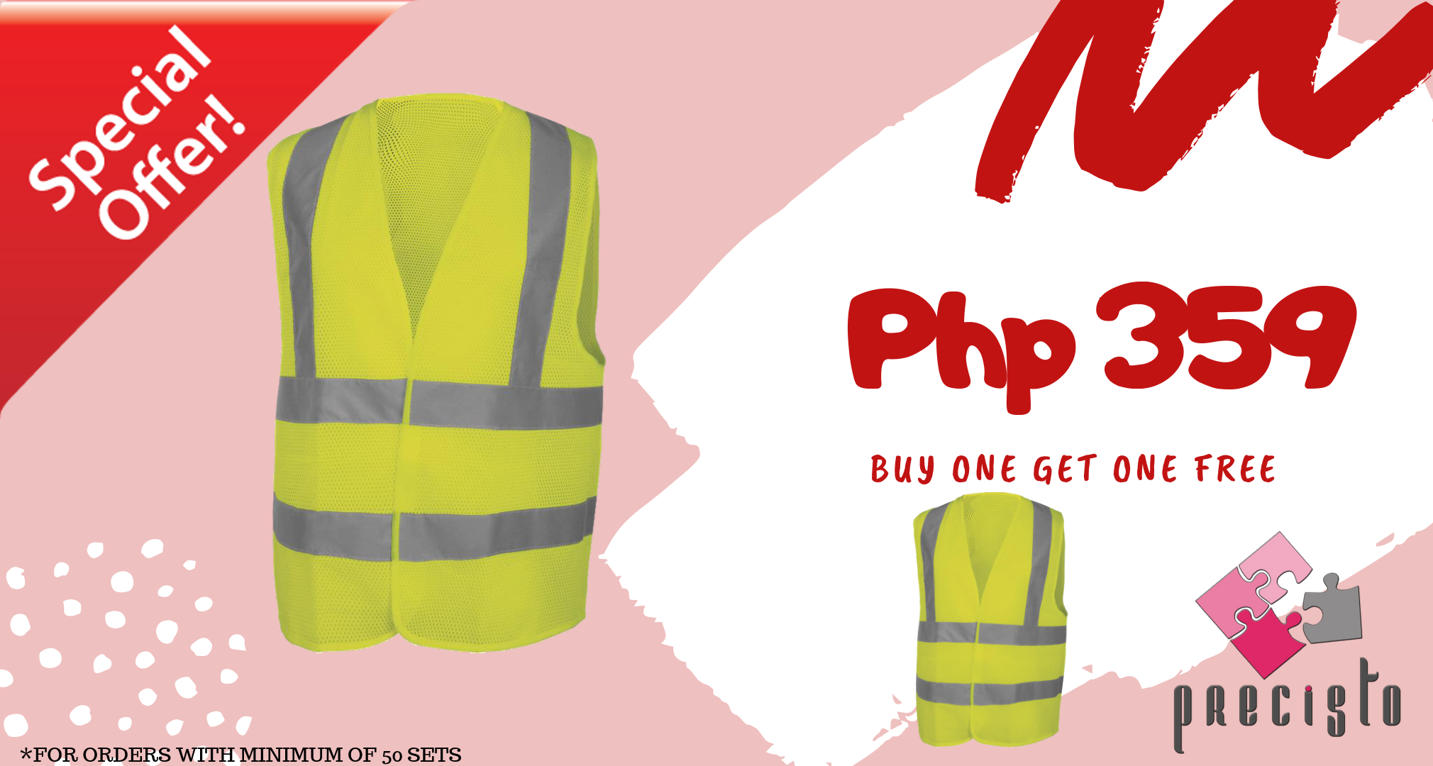 SAFETY VEST - BUY 1 TAKE 1